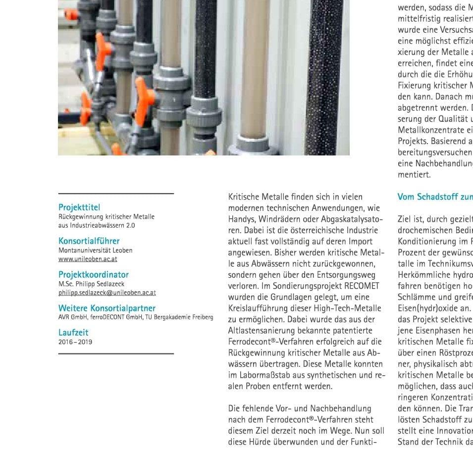 FFG-Broschüre - Newsletter Forschungsförderungsgesellschaft - vom Schadstoff zum Wertstoff