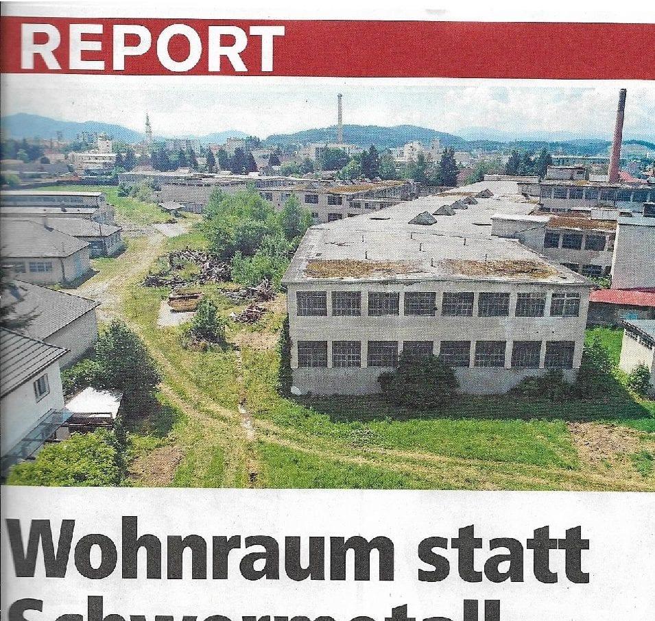 Presse-Artikel Klagenfurt regional - Wohnraum statt Schwermetall